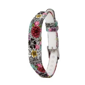 Flower Printing Flexible Silicone Wrist Strap for Fitbit Flex 2 - Colorized Flowers