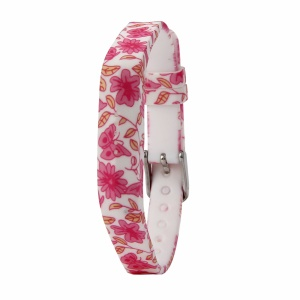 Flower Printing Flexible Silicone Wrist Strap for Fitbit Flex 2 - Rose Flowers and Buttterflies