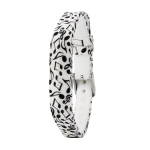 Flower Printing Flexible Silicone Wrist Strap for Fitbit Flex 2 - Musical Note