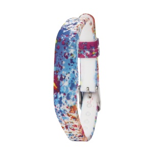 Flower Printing Flexible Silicone Wrist Strap for Fitbit Flex 2 - Watercolor