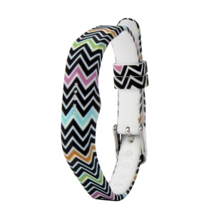 Flower Printing Flexible Silicone Wrist Strap for Fitbit Flex 2 - Colorful Chevron