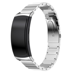 316L Stainless Steel Strap with Butterfly Buckle for Samsung Gear Fit 2 SM-R360 - Silver