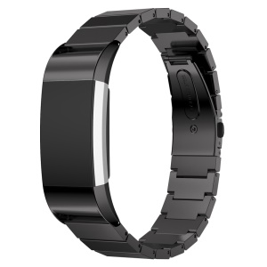 Stainless Steel Bracelet Watch Band for Fitbit Charge 2 - Black