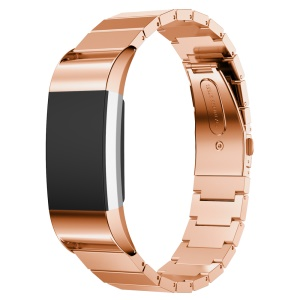 Stainless Steel Bracelet Band Watch Strap for Fitbit Charge 2 - Rose Gold