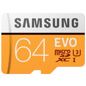 OEM SAMSUNG EVO 64GB 100MB/s TF Micro SD Flash Memory Card - Orange