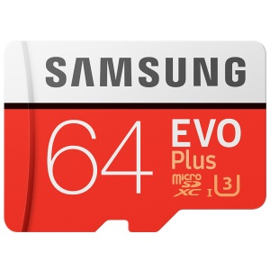 OEM SAMSUNG EVO PLUS 64GB TF High Speed Memory Card 100MB/s Reading - Red