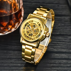 MCE Round Dial Automatic Self-wind Mechanical Watch Stainless Steel Band