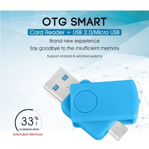 TF Card Reader OTG Adapter Micro USB OTG to USB Adapter for Smartphones & Tablets