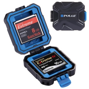 PULUZ PU5001 9 in 1 Memory Card Case for 2XQD + 2CF + 2TF + 3SD Card - Black