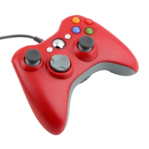 Xbox 360 Wired USB Portable Motion Sensing Game Controller - Red