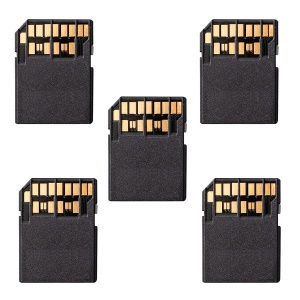 5Pcs/Set UHS-II 4.0 Micro-SD SDHC SDXC TF Card to SD SDHC SDXC Card Adapter Kit