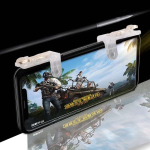 One Pair M5 Quick Metal Shooting Buttons PUBG Phone Game Controllers Assist Tools for STG FPS TPS
