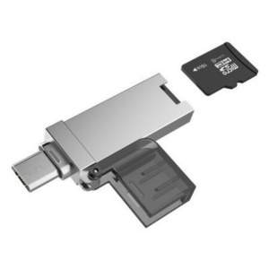 XQ-R006 TF Card Reader Micro USB OTG to USB 2.0 Adapter for Smartphones & Tablets