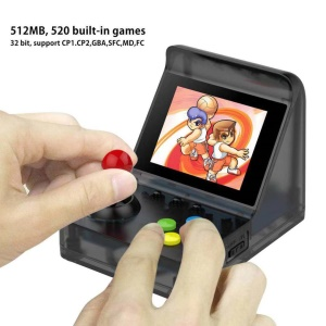 A7 Retro Arcade Video Game Console 520 Built-in Games 3 inch Screen Game Player support TF Card - Black