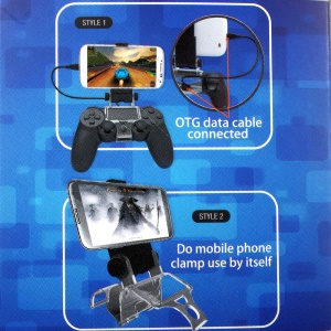 Rotary Smartphone Clamp Holder for Playstation 4 PS4 Controller