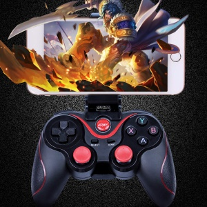 C8 Wireless Bluetooth Game Controller Gamepad Joystick for iOS Android Etc with Phone Clamp Holder