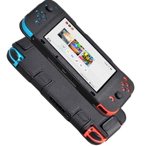 Lychee Texture PU Leather Protective Case for Nintendo Switch - Black
