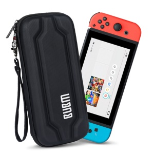 BUBM EVA Hard Carrying Case Zip Sleeve for Nintendo Switch Console & Accessories - Black