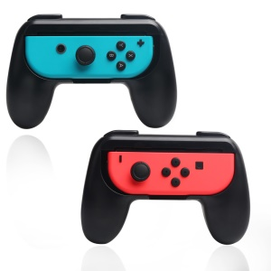 2Pcs/Set ABS Controller Direction Manipulate Grip Handle for Nintendo Switch Joy-Con - Black