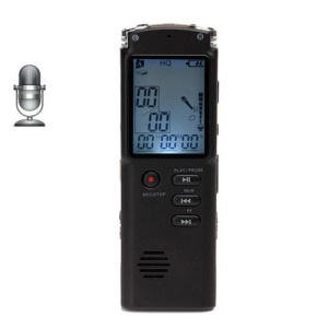 Portable Rechargeable Mini 8GB Digital LCD Audio Voice Recorder Dictaphone Mp3 Player