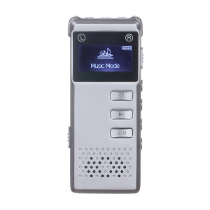 SK-818 Rechargeable 8GB Digital Audio Voice Recorder Dictaphone MP3 Player - Silver