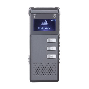 SK-818 Rechargeable 8GB Digital Audio Voice Recorder Dictaphone MP3 Player - Grey