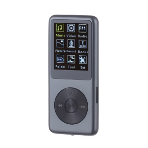 8G Slim Portable MP3 MP4 Music Player with Voice Recording FM Radio Functions - Grey