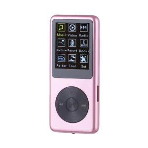 8G Slim Portable MP3 MP4 Music Player with Voice Recording FM Radio Functions - Rose Gold