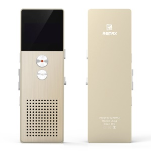 REMAX RP1 8GB Digital Audio Voice Recorder MP3 Music Player (CE/RoHS) - Gold Color