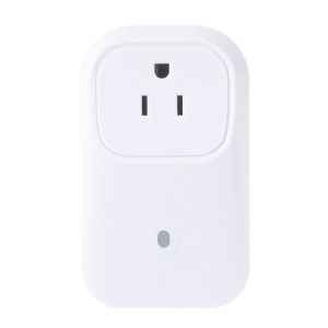 WiFi Smart Power Plug Socket US Plug, Remote Control Turn On/Off Electronics from Anywhere - White / US Plug