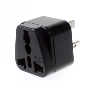 WD16W Universal UK/US/EU to AU Adapter Travel Power Adapter - Black