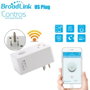 BROADLINK SP3 SPcc WiFi Timer Plug Intelligent Remote Control Socket for Electrical Appliances - White / US Plug