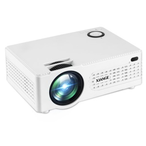 AK-80 Smart LCD HD Portable Home Cinema Projector - White / US Plug