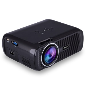 UHAPPY U80 Mini Projetor 1080P HD Home Theater com HDMI USB SD VGA AV - Preto