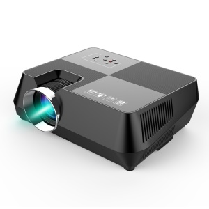 "S8+ Mini LED Projector 4.0 "" LCD Portable Home Movie Theater Wired HDMI Multimedia Projector for Android, iOS, PC - UK Plug"