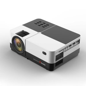 H2 Portable High Definition LCD Theater Projector with HD USB AV VGA Port - US Plug