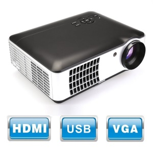 RD-806 2800 Lumens Movie Projector Video LED Projector Home Theater Cinema Projector - EU Plug