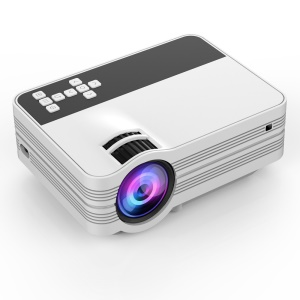 YS-10 Portable 1080P HD LED Theater Projector with USB/SD/VGA/HDMI/AV Port - US Plug