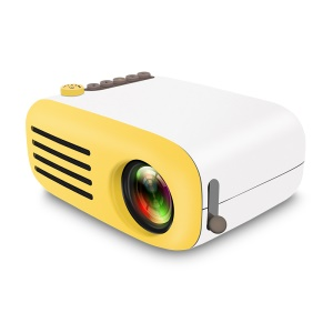 YG200 Multimedia HD 1080P Mini LED Projector with Remote Control - EU Plug