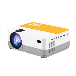 JEDX H3 720P Multimedia Projector Home Entertainment Cinema Projector 2400 Lumens - US Plug