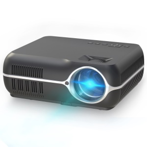 720P Home Theater Android 6.0 Wireless WiFi Bluetooth Office Projector - Black / US Plug