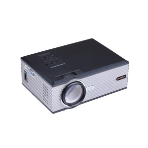 UHAPPY U88 1080P LED HD Mini Office Home Theater Projector - Silver