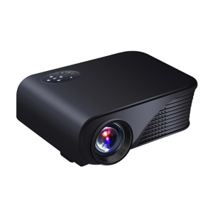 S320 1800LM LED Mini Projector Multimedia Home Theater Projector SVGA 800x600 Pixels - Black / EU Plug