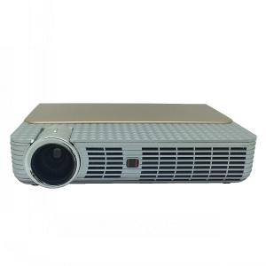 GP5W Smart 3D Projector Bluetooth WIFI Android 4.44 1280x800 2.4GHZ/5GHZ Dual Band - Gold / EU Plug