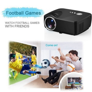 GP70 Single LCD Panel Portable Projector Support 1080P Full HD 1200 Lumens - UK Plug