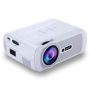 UHAPPY U80 Pro 1000LM 1080P Home Theater 800x480 Mini Projector - White