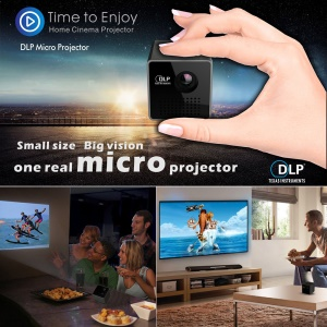 UNIC P1 Mini Handheld DLP 1080P HD Projector Beamer with 3.5mm Audio Port/TF Card Slot