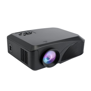 EG BEAVER 4-inch 800x480 LED Projector with AV/VGA/HDMI/TF/USB Ports (LED-4018N) - Black / EU Plug