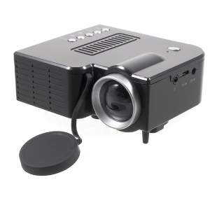 UNIC UC28B Mini Multimídia Cinema em casa 1080P Projetor LED com portas TF USB - Plugue preto / UE
