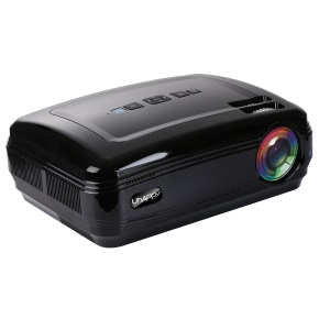 UHAPPY U58 LED Video Projector 1080P LED HD Mini Projector 1280*768 Resolution Home Projector - Black